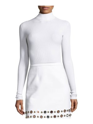 Michael Kors Collection Ribbed Long-Sleeve Turtleneck Sweater