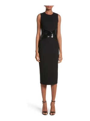 Michael Kors sequined stretch boucle crepe sheath