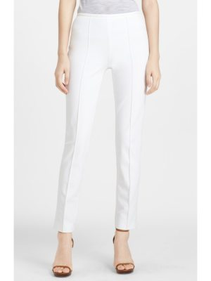 Michael Kors skinny stretch cotton twill pants
