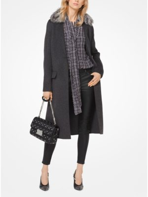 MICHAEL Michael Kors Double-Face Wool-Blend Coat
