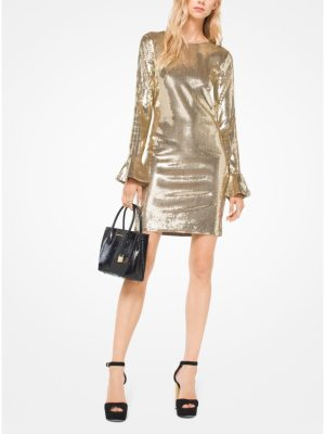 MICHAEL Michael Kors Sequined Bell-Cuff Dress