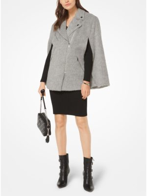 MICHAEL Michael Kors Wool-Blend Cape Coat