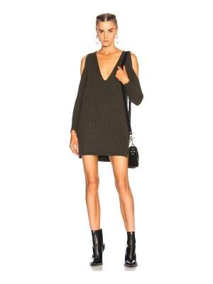 Michelle Mason Cold Shoulder Sweater Dress