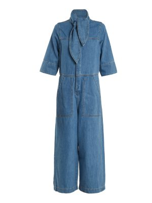M.i.h Jeans Calman wide-leg denim jumpsuit