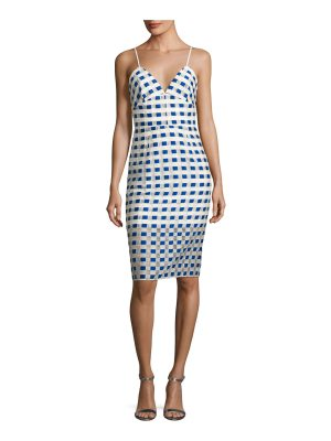 Milly Scarlett Sleeveless Gingham Fil Coupe Cocktail Dress