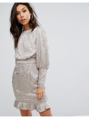 Misha Collection Collection Mini Dress With Blouson Sleeve In Burnout