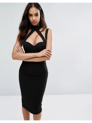 Misha Collection Collection Pencil Dress With Strap Detail