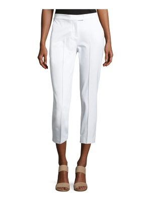 Misook Collection Stretch-Cotton Cropped Pants