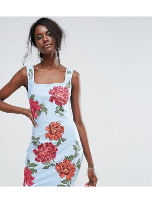 MISSGUIDED Embroidered Bandage Dress