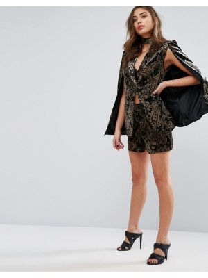 MISSGUIDED Exclusive Paisley Velvet Shorts Co-ord