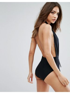 MISSGUIDED Missgudied Deep Plunge Backless Swimsuit
