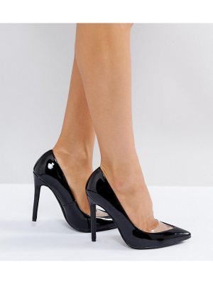 MISSGUIDED Patent Pointed Heels Court Shoe