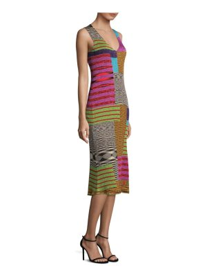 Missoni v-neck patchwork dress