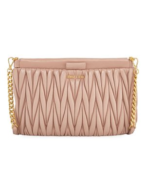 Miu Miu Matelasse Leather Clutch/Crossbody Bag