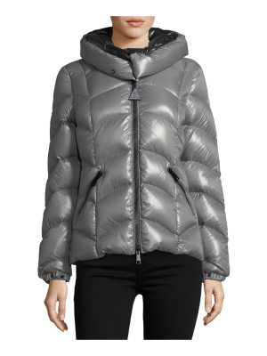 Moncler Akebia Hooded Wave Puffer Jacket