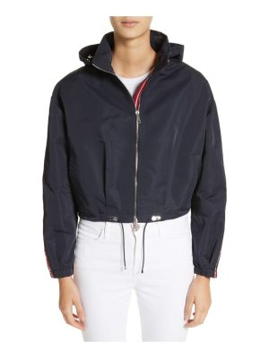 Moncler zirconite crop hooded coat