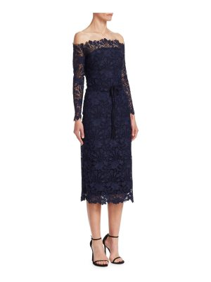 Monique Lhuillier Bridesmaids off-the-shoulder cocktail dress