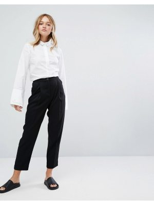 Monki High Waist Peg Leg Pants