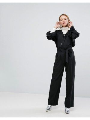 Monki Tie Waist Wide Leg Pants