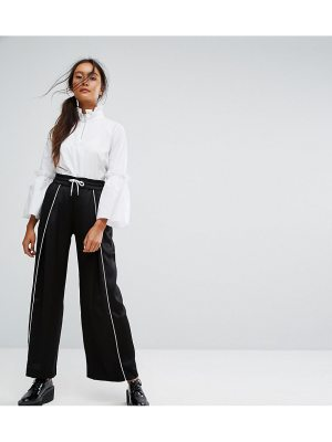 Monki Wide Leg Contrast Sporty Pants