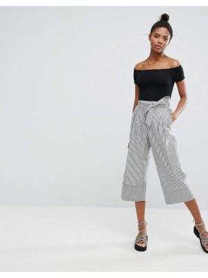 Monki Wide Leg Pinstripe Pants