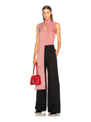 Monse for FWRD Striped Silk Top