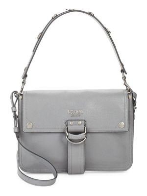 Moschino Magnetic Leather Shoulder Bag