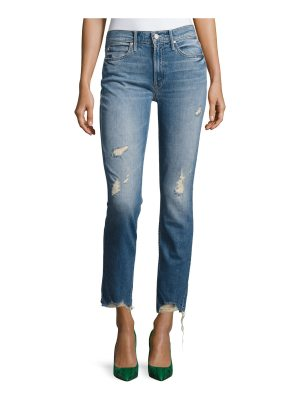 MOTHER Flirt Fray Slim Jeans