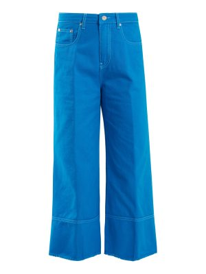 MSGM high rise wide leg cropped jeans