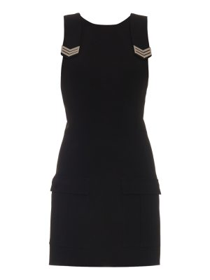 Mugler Sleeveless cargo-pocket crepe dress