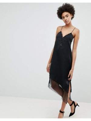 N12H After Hours Lace Trim Slip Dress
