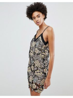 N12H Midnight Blooms Lace Slip Dress