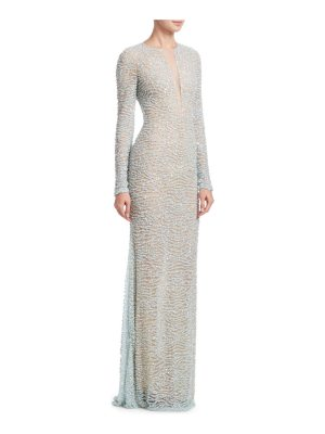 Naeem Khan beaded illusion gown