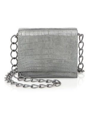 Nancy Gonzalez gio crocodile crossbody bag