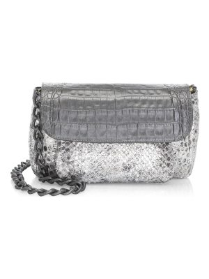 Nancy Gonzalez python & crocodile accordion crossbody bag
