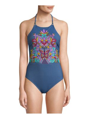 Nanette Lepore Swim Embroidered One-Piece Swimsuit