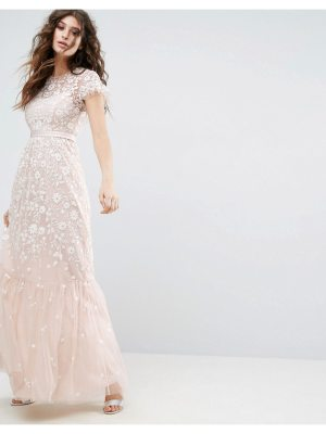 Needle & Thread Meadow Tulle Embroidered Maxi Dress