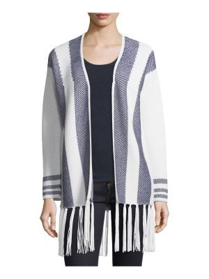 Neiman Marcus Cashmere Collection Cashmere Intarsia Open-Front Cardigan