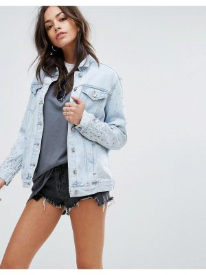 New Look Bling 80's Wash Denim Jacket
