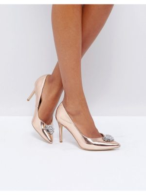 New Look Embellished Pointed Toe Heeled Shoe