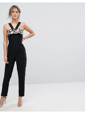 New Look Embroidered Cross Front Jumpsuit