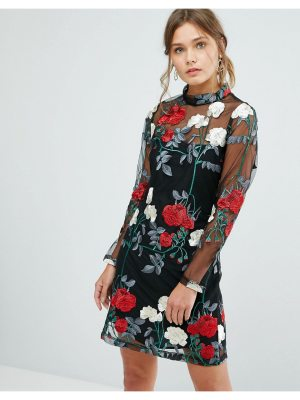 New Look Floral Embroidered Tunic Dress