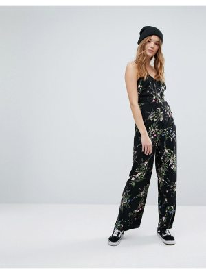 New Look Floral Strappy Jumpsuit
