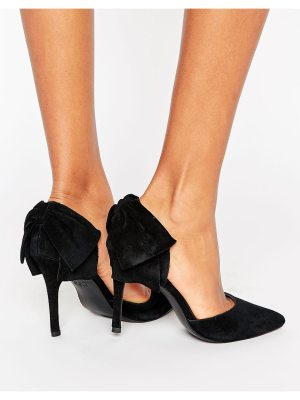 New Look Suede Bow Detail Pointed Court Heel