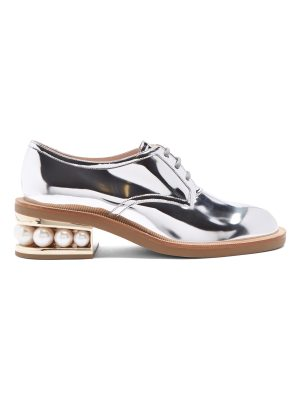 Nicholas Kirkwood Casati pearl-heeled patent-leather Derby shoes