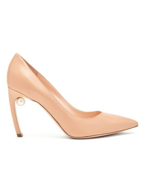 Nicholas Kirkwood Mira pearl-heeled leather pumps