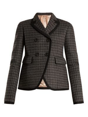 No. 21 Checked double-breasted jacket