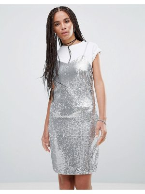 Noisy May Lola Sequined Slip Dress