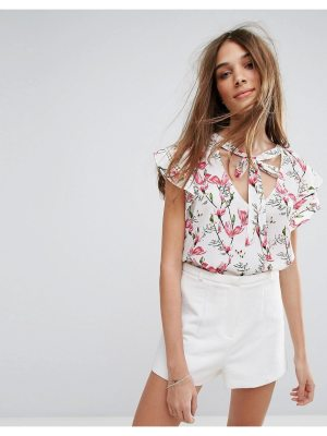 Oasis Floral Printed Ruffle Top