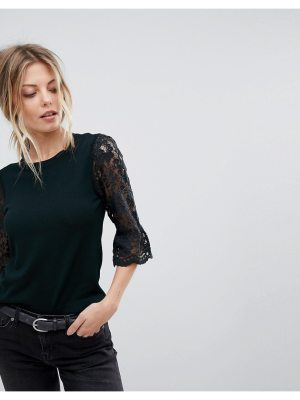 Oasis Lace And Broderie Top